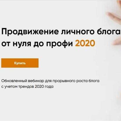 Продвижение личного блога от нуля до профи -Скачать за 200