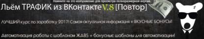 Льём трафик из Вконтакте v.8 + Автоматизация ЖАВ5 скачать-Скачать за 200