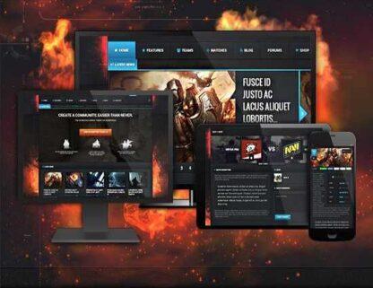 Игровой сайт на основе шаблона Blackfyr для WordPress-Скачать за 200