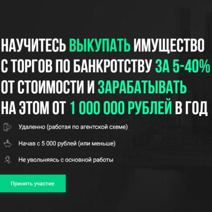 Как покупать имущество должников за 5-40% от стоимости и зарабатывать на этом от 1млн. руб.-Скачать за 200