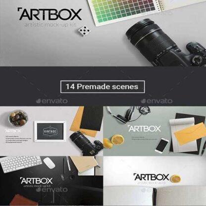 ArtBox — Artistic Mockup Kit-Скачать за 200