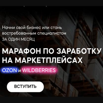 Марафон по заработку на маркетплейсах Ozon и Wildberries -Скачать за 200