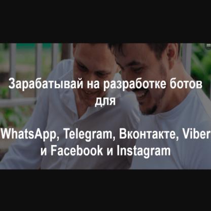 Зарабатывай на разработке ботов для WhatsApp, Telegram, Вконтакте, Viber и Facebook и Instagram-Скачать за 200
