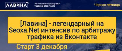 Легендарный интенсив по арбитражу трафика из Вконтакте Лавина скачать-Скачать за 200