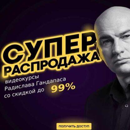 Супер распродажа курсов Радислава Гандапаса. Пакет «Платинум» -Скачать за 200