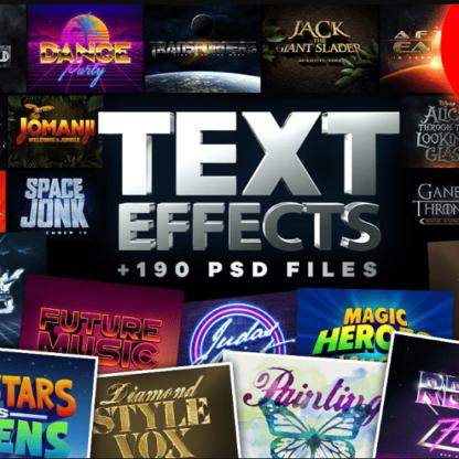 Огромный Набор Текстовых Эффектов для Photoshop-Скачать за 200