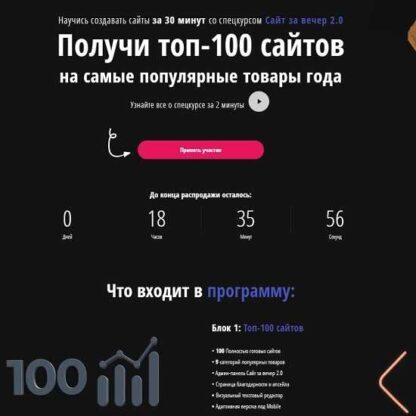 Сайт за вечер 2.0 + топ-100 сайтов на самые популярные товары года-Скачать за 200