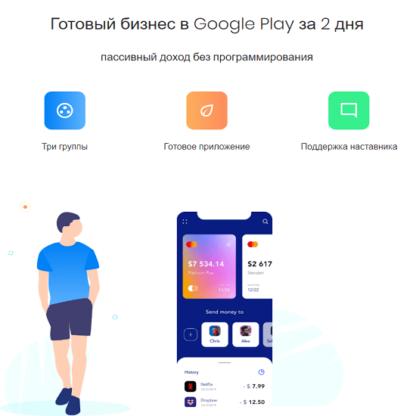 Готовый бизнес в Google Play за 2 дня -Скачать за 200