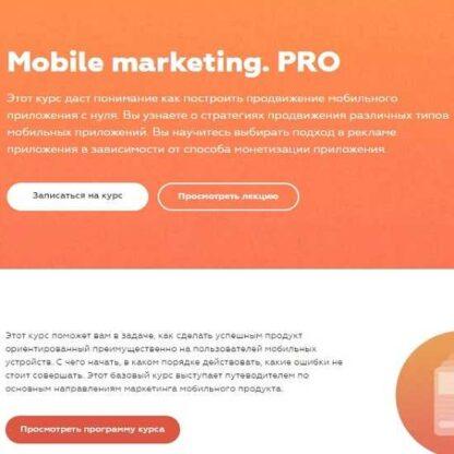 Mobile marketing. PRO -Скачать за 200