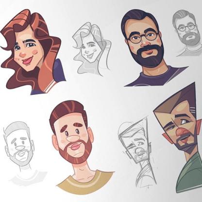 Персонажи в Adobe Illustrator -Скачать за 200